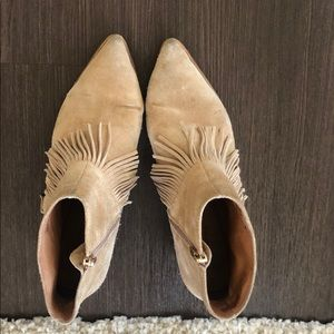 Matiko suede fringe ankle boots